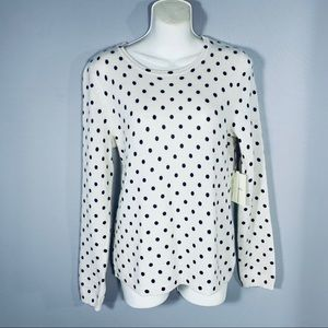 Cynthia Rowley Cashmere Dotted Sweater